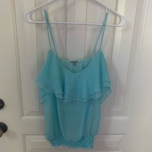 🏷5 FOR 25 SALE ✨ Turquoise Ruffle Tank✨